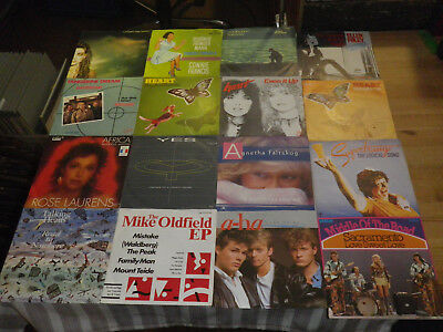 "ROCK/ POP 70/80ties      NICE LOT WITH 16 SINGLES/ 7""      TOP CONDITION!    #23"