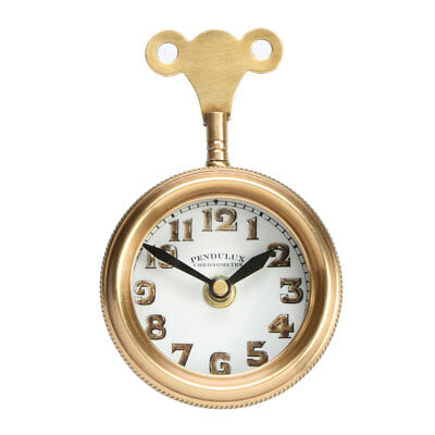 Mouse Solid Brass Table Clock