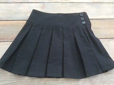 Bienzoe Girls 12 Black Pleated Uniform Skirt Skort Teflon Coated NWT