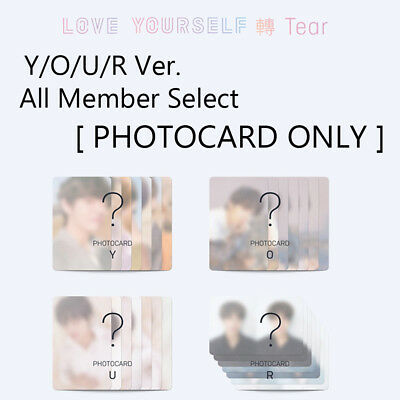 [PHOTOCARD ONLY]  BTS - LOVE YOURSELF 轉 'TEAR' Y/O/U/R Ver. All Member Select