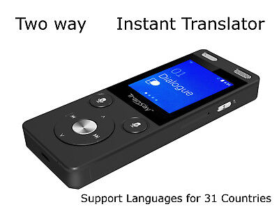 TranSay AI Two Way Instant Digital Voice Translator Recorder device 32 languages