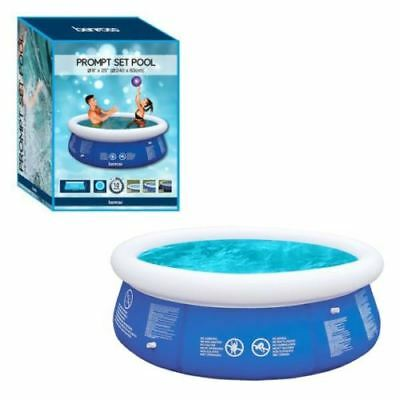 Fast Set Pool 240 x 63cm Round Swimming Pool Paddling Children Garden Outdoor