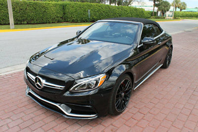 "2017 Mercedes-Benz C-Class C63S AMG PERFORMANCE EXHAUST 19/20"" BLK WHEELS!!!! 1-OWNER CLEAN CARFAX HUGE MSRP LOADED WITH OPTIONS LOW RESERVE FLORIDA CAR!!!!!!"