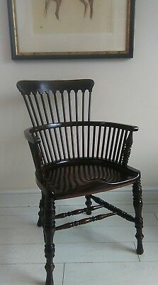 Early Antique 18th Century Windsor Comb Back Chair