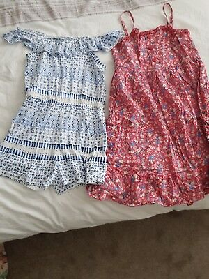 girls aged 8-9years dress and playsuit