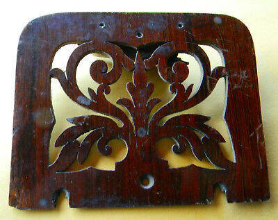 Antique carved wood panel door grate gate from London possibly cherry fretwork