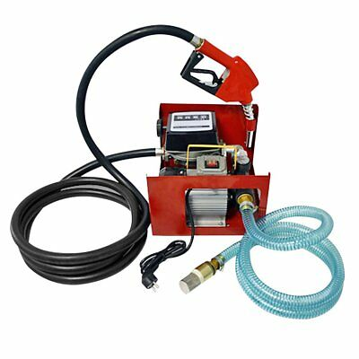 230V Wall Mounted Electric Diesel Pump Transfer Automatic Nozzle Garage Tools