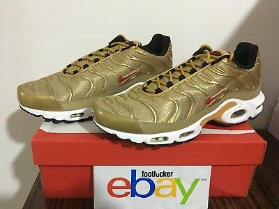 Nike Air Max Plus TN Metallic Gold 903827-700 Grade School GS Men s Size 4Y 8a6d664e8