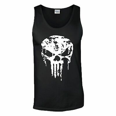 The Punisher Skull Gym Training Tank Top Crossfit MMA UFC Fight Mens Vest Gift
