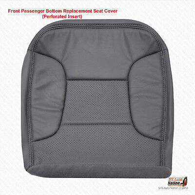 1992 - 1996 Ford Bronco Eddie Bauer PASSENGER Bottom Synth Leather Cover DK GRAY