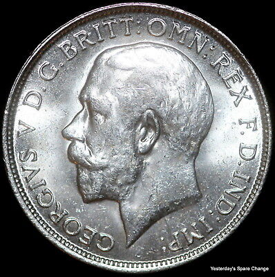 1916 Choice High Grade Lustrous Great Britain KM-817 George V Silver Florin!!