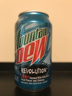 Can of Mountain Dew Revolution UNOPENED and FULL
