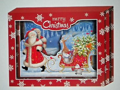 Shadow Box Vintage Religious Christmas Greeting Card With