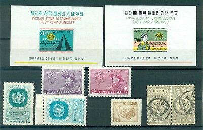 Korea South '57 ScoutSet Mnh+Jamboree'67 Mnh 2Blocks+'62 cover&front cover Italy