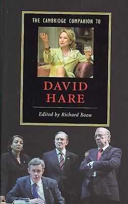 The Cambridge Companion to David Hare by Richard Boon (English) Hardcover Book F