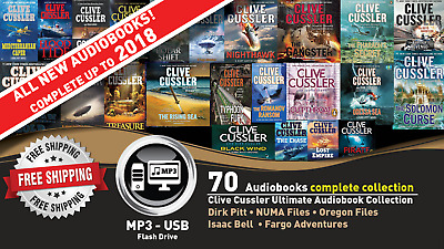 70 • Clive Cussler Ultimate Audiobook Collection Lot