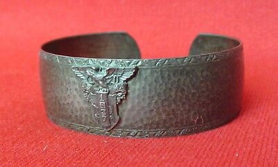 West Point Class of 1937 SWEETHEART CUFF BRACELET Hammered Sterling Silver USMA