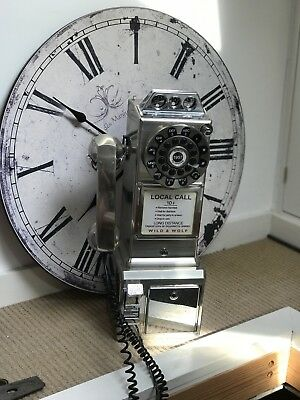 Wild and Wolf Retro Diner Phone in Chrome