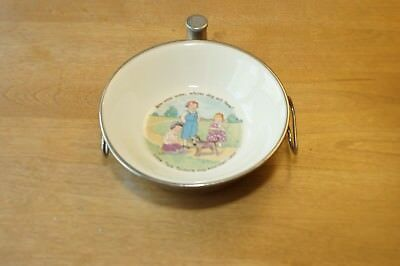 ANTIQUE Vintage Little Tom Tucker's  CHILDS Baby Warmer WARMING DISH by EXCELLO