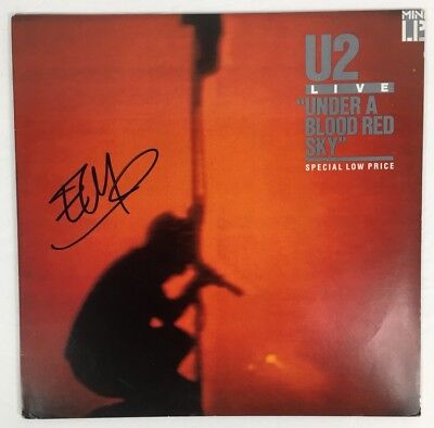 The Edge U2 Under A Blood Red Sky Autographed Signed Album w/ PROOF