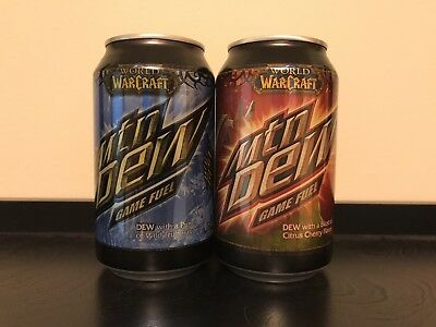 One UNOPENED set of Mountain Dew Game Fuel World Of Warcraft