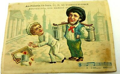 Chromolithograph  Advert Card late 19th century, French.