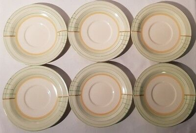 6No. Art Deco Crown Ducal Desert / Salad / Side / Starter Plates 1920s 1930s