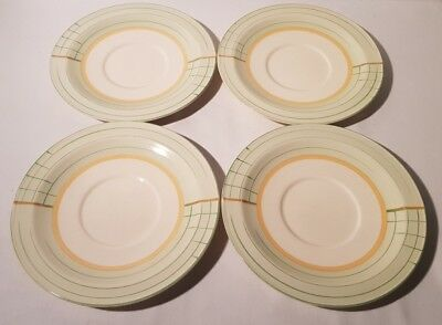 4No. Art Deco Crown Ducal Desert / Salad / Side / Starter Plates 1920s 1930s