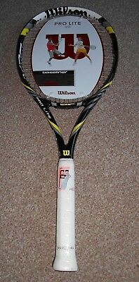 Wilson Pro Lite 100 Performance tennis Racket - Black/Yellow, GRIP 2 NO COVER