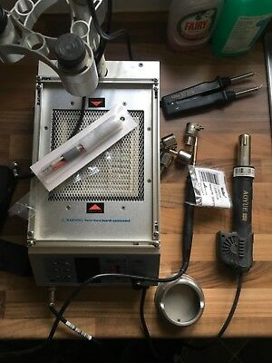 Solder iron and micro scope