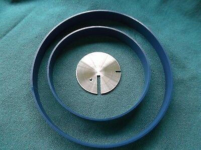3  BLUE MAX BAND SAW TIRES AND 1 ROUND DRIVE BELT FOR BUFFALO 3WHBS-14 BAND SAW