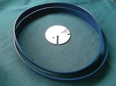 """2 BLUE MAX BAND SAW TIRES and TABLE INSERT FOR CRAFTSMAN 12"""" 113.24201 BAND SAW"""