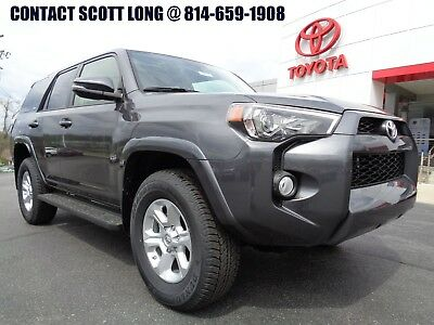 2018 Toyota 4Runner New 2018 SR5 Premium 4x4 Navigation Gray New 2018 4Runner SR5 Premium 4x4 Navigation Heated Leather Power Sunroof 4WD