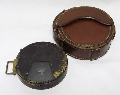 Antique Pocket Clinometer By Lawrence & Mayo Ltd., London In Leather Case
