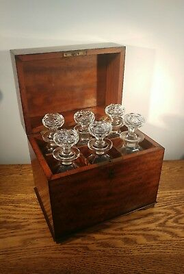MAGNIFICENT & ATTRACTIVE LATE GEORGIAN FLAME MAHOGANY DECANTER BOX c1815