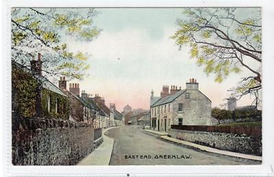 EAST END, GREENLAW: Berwickshire postcard (C32041)