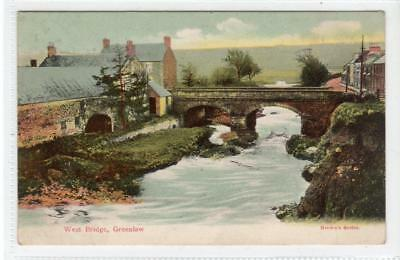 WEST BRIDGE, GREENLAW: Berwickshire postcard (C32036)