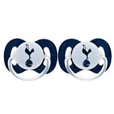 Official Tottenham Hotspur Fc 2Pk Baby Soothers/dummies