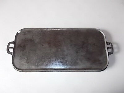 """Vintage Erie Griswold #9 Cast Iron Griddle -746.  Ghost Marked """"erie"""" - 24"""" Long"""