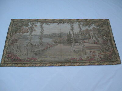 Old French / Belgium Tapestry Wall Hanging - 170 x 80 cm ( 4559 )