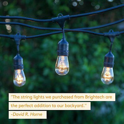 Brightech Ambience Pro Commercial Grade Outdoor Light Strand with Hanging...
