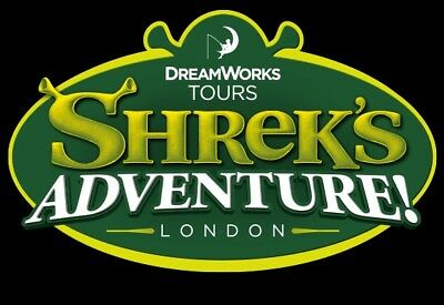 Shreks Adventure x 2 Tickets Saturday 7th July 2018