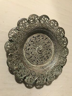Antique Russian FILIGREE Sterling Silver DISH