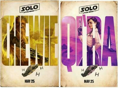 """SOLO: A STAR WARS STORY 13.5""""x20"""" D/S Original Promo Movie Poster MINT Chewie"""