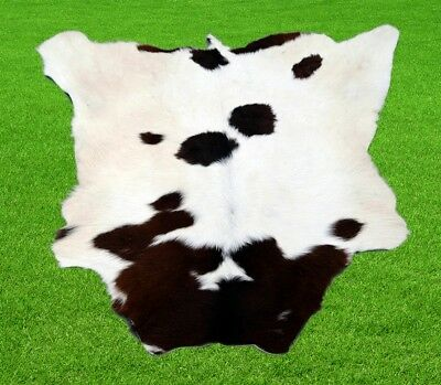 "New Calfhide Rugs Area Cow Skin Leather 6.88 sq.feet (33""x30"") Calf hide A-1160"