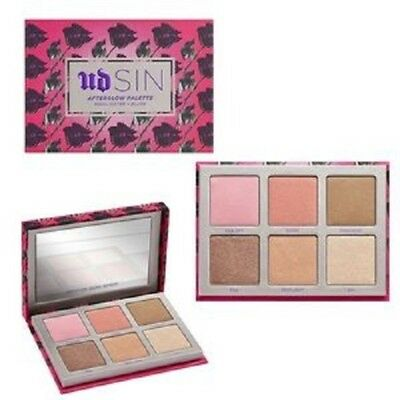 URBAN DECAY SIN Afterglow Palette 8-hour Highlighter + Blush NIB 100% Authentic