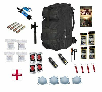 72 Hour Emergency Survival Kit and Bug Out Bag Water Filter For 4 People