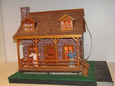 Vintage Wood Folk Art Hand Made; It's a replica of a Canadian House RARE!!