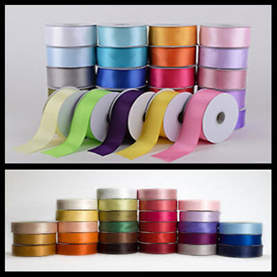 Full Reel Double Sided JeeJaan SATIN Quality Tying Ribbon Crafts 25m/50m meters
