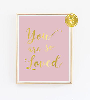 Quote print / Copper poster / You are so loved / Bedroom wall art / Home decor